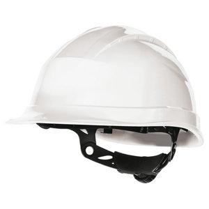 Safety Helmet, ratchet adjustable, white QUARTZ UP III, Delta Plus