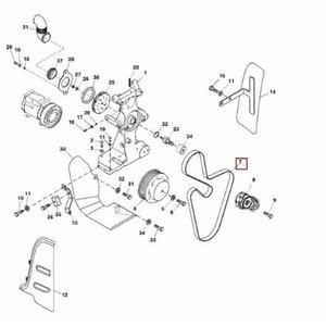 Fan belt 8020 TB, John Deere