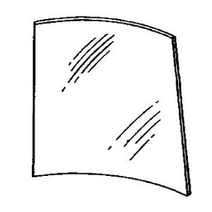 Stiklas kabinos durų, kabinos, viršutinis 4000, John Deere