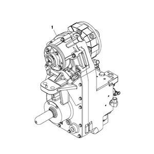 Gear box compl 7200R, John Deere