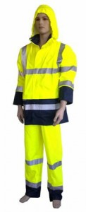 High-Visibility PU rainwear XL