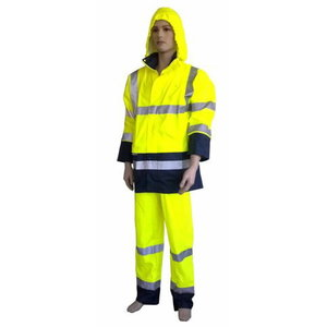 High-Visibility PU rainwear 2XL