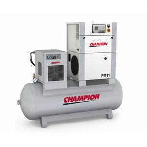 Skrūves kompresors 11kW FM11/CT/500 ar iebūvētu g. žāvētāju, Champion