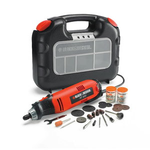 Straight grinder RT650KA, with accessories, Black+Decker