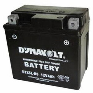 Battery for cycle 12V 4Ah YTX5L-BS 114x70x105 -+, Exide