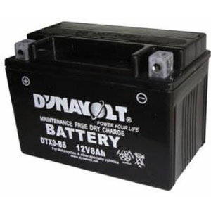 Battery for cycle 12V 8Ah YTX9-BS 150x87x105+- Dynavolt, Exide