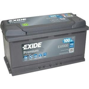 Akumulators PREMIUM 100Ah 900A 353x175x190-+, Exide
