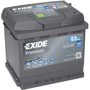 аккумулятор для запуска  PREMIUM 53 Ач 540A 207 синяя175 синяя190, EXIDE