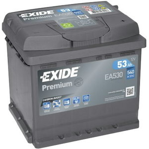 Battery PREMIUM 53Ah 540A 207x175x190, Exide