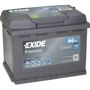 аккумулятор для запуска  PREMIUM 64 Ач 640A 242 синяя175 синяя190--, EXIDE