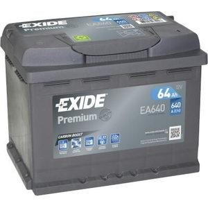 Akumulators PREMIUM 64Ah 640A 242x175x190-+, Exide