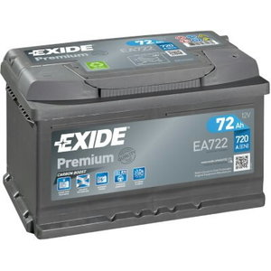 Akumulators PREMIUM 72Ah 720A 278x175x175-+, Exide
