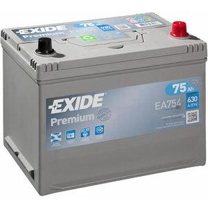 Akumulators PREMIUM 75Ah630A 270x173x222 -+, Exide