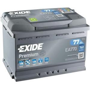 аккумулятор для запуска PREMIUM 77Ah 760A 278x175x190-+, EXIDE