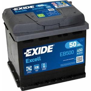 Akumuliatorius EXCELL 50Ah 450A 207x175x190-+, Exide