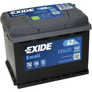 аккумулятор для запуска EXCELL 62Ah 540A 242x175x190-+, EXIDE