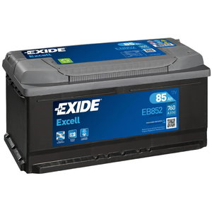 Käivitusaku EXCELL 85Ah 760A 353x175x175-+, Exide
