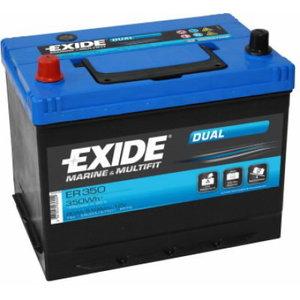 Akumulators DUAL 80Ah 510CCA 260x175x225+-, Exide