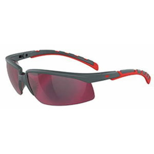 Safety glasses Solus 2000, grey/red, red mirror lens AS, 3M