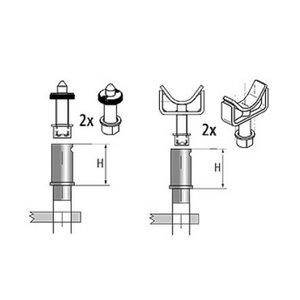Adjustable support kit 2+2pcs D=45mm Ravaglioli
