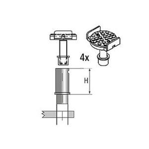 Adjustable support kit 4pcs D=45mm , Ravaglioli