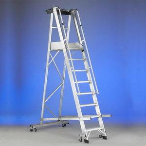 Mobile stocker`s ladder CASTELLANA 4WD 9 steps, Svelt