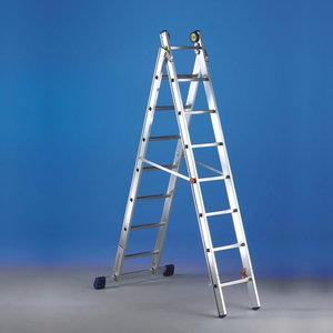 Combination ladder. LUXE 2, 8+9 steps, Svelt