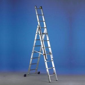 Combination ladder. LUXE 3, 8+9+9 steps, Svelt