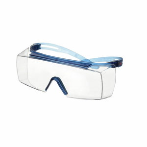 Overspectacles, Blue Temple, Anti-scratch+ (K), Clear Lens, 3M