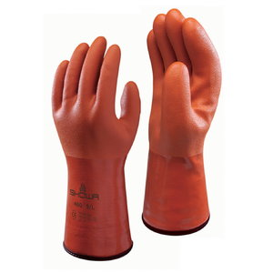 Rubber gloves oil and chemicals PVC worm acrylic lining 30CM 10