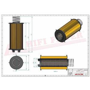 Hüdraulika õlifiltri element 6030,7430,7530 AL169573, Hifi Filter
