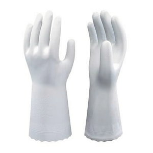 Work gloves SHOWA 700, PVC, white