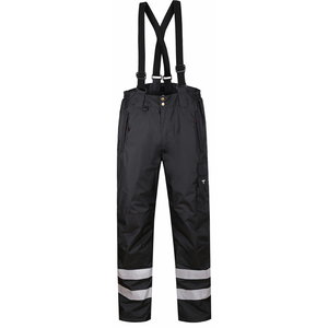 Winter trousers Forest, black, with brace S, Pesso