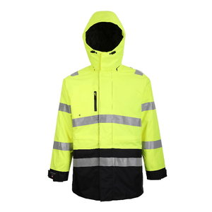 Hi.vis winterjacket Montreal yellow/navy 3XL, Pesso