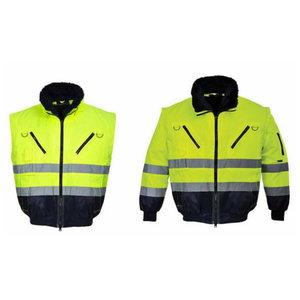 Augstas redzamības ziemas jaka Pilot, dzeltena, 2-in-1 L, Pesso