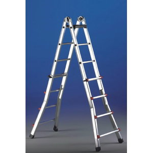 Multi purpose telescope ladder SCALISSIMA 8+8 steps, Svelt