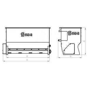 Top loading sand spreader ST-1500, Sami