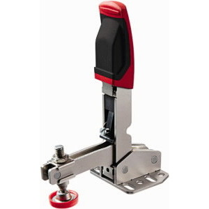 Vertical toggle clamp with open arm and base plate STC-VH50
