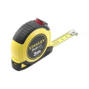 Tape measure 3m x 15mm Class II DUAL LOCK autolock, Stanley