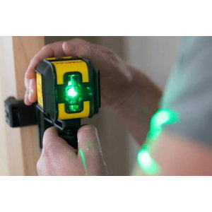 Cross laser CUBIX green with pouch and clamp, Stanley