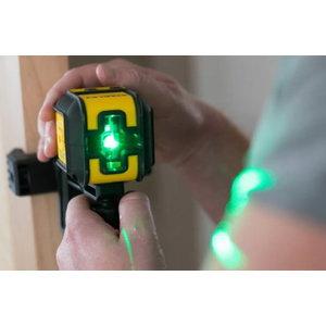 Lazerinis nivelyras CUBIX green su  dėklu ir spaustuvu, Stanley