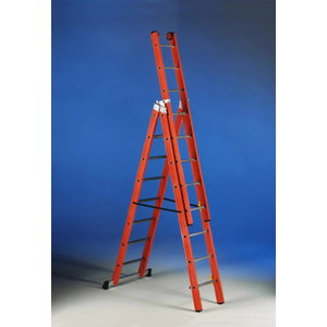 Combination ladder V 3 fiber 3x8 steps, Svelt