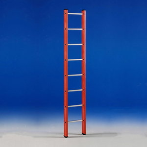 Single section ladder, fibreglass 14 Tread V 1, Svelt