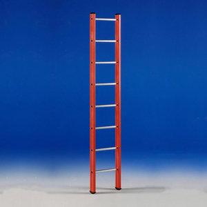 Single section ladder V 1 fibreglass 14 tread, Svelt
