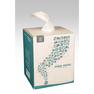 Non woven wipes Softextra 390 pcs, 38x30 cm, white, Wipe Away