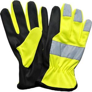 Pirštinės, PU Microthan delnas, spalva geltona/ juoda 10