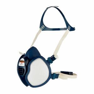 Half Mask 4000+ serie, maintenance free, fixed filters FFA2P3 R D, 3M