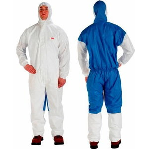 protective overall, 5/6  blue/white, 3M