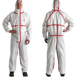 apsauginis kombinezonas  balta/raudona, 4565 L, 3M