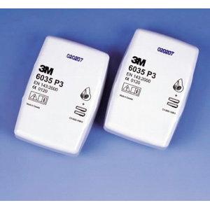 Противопыльный фильтр P3 пара, прямоугольный, , 3M